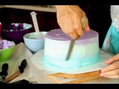 How to Frost a Pastel Swirl Cake