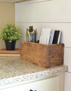 How to Get Organized with Vintage Decor. Simple ideas to use vintage decor to organize your home!