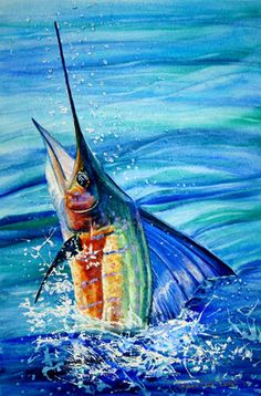 Fish Artwork, Watercolor Fish, Nautical Art, Ocean Art, Beach Art, Marine Life, Landscape Art, Zentangle, Art Gallery