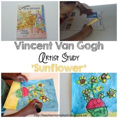 TeacherMomPlus3: Artist Study: Van Gogh (Sunflower)