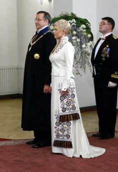 Estonian first lady.  http://www.president.ee/