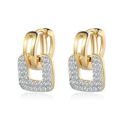 MOLIAM Small Huggie Hoop Earrings Cluster Paved Zirconia Crystal Stone Earring Jewelry