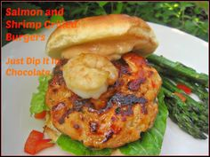 Salmon and Shrimp Burgers Recipe