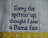 LSU Tigers Burp Cloth