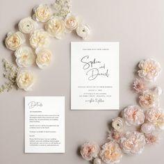 Modern Wedding Invitation Simple Wedding Invites Minimal | Etsy Simple Wedding Invitations, Wedding Stationery, Invites, Minimal Wedding, Wedding Calligraphy, Wedding Announcements, Simple Weddings, Etsy, Black White