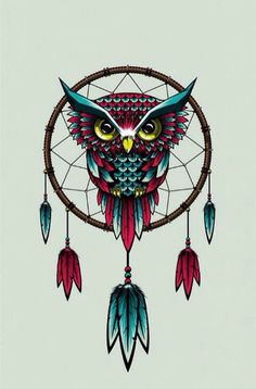 Dreamcatcher owl art.
