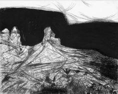 "#20160222 charcoal on Osnaberg cloth 32"" x 40"" by John Warren Oakes"