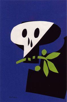 Paul Rand, Anti-War, 1968 < taste > retro / simple / bold < media material > poster < colour > colourで分類した後にさらに分類