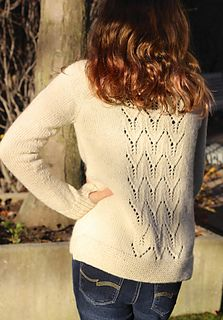 Aggie is a very basic top down sweater with just enough detail to