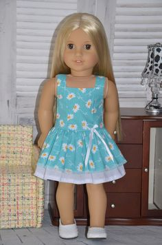 American Girl Doll Clothes Dress . by Symidollsclothes on Etsy