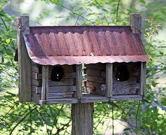 Southern Lagniappe: Birdhouses: Little Works of Art Decorative Bird Houses, Bird Houses Diy, Tiny Houses, Bird House Feeder, Bird Feeders, Homemade Bird Houses, Birdhouse Designs, Birdhouse Ideas, Bluebird House
