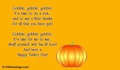A Thanksgiving Turkey Poem!