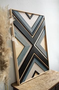 Wooden Wall Art, Diy Wall Art, Diy Home Crafts, Wood Crafts, Small Wood Projects, Wood Mosaic, Wall Molding, Wood Wall Decor, Woodworking Projects Diy