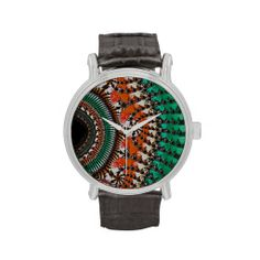 Aztec Fractal Abstract Watch