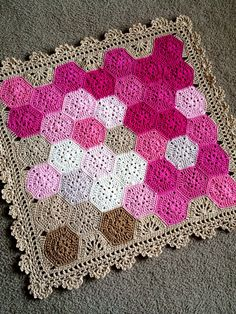 """BabyLove Brand Geometric Lace Blanket/Afghan, handmade crochet beautiful color/size baby throw - custom available - 36""""x36"""""""