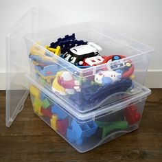 Buy the 2 x Plastic Toy Storage Boxes from STORE Plastics today! A part of our Toy Storage Boxes range. Toy Storage Boxes, Plastic Box Storage, Toy Boxes, Recycling Containers, Recycling Bins, Storage Containers, Small Space Storage, Storage Spaces, Garden Cushions