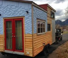 Tiny house with slide outs.