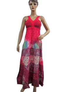 Sexy Smocked Bust Boho Tie Dye Maxi Dress Floral Printed Beach Wear Sundress Mogul Interior, http://www.amazon.com/gp/product/B008KGCWFW/ref=cm_sw_r_pi_alp_vVeiqb0QZ4KVB
