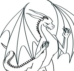 Line Art Dragon