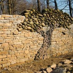 Stone Wall Mural Wonder if my next house will have a place I can something like this?