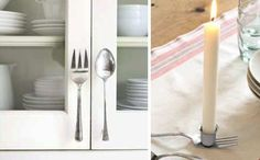 love the serving fork and spoon handles
