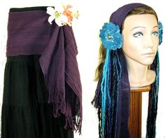 S A L E  HIP & HAIR SCARF Tribal Fusion Gipsy by MagicTribalHair, €8.00