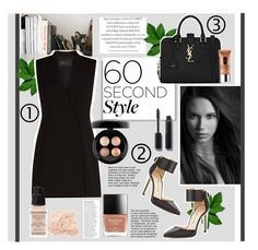 """Smile."" by zeljkaa ❤ liked on Polyvore featuring Yves Saint Laurent, Manolo Blahnik, BCBGMAXAZRIA, MAC Cosmetics, Chanel, Clinique, Givenchy and Anja"