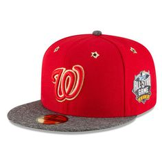 Washington Nationals New Era 2016 MLB All-Star Game Patch 59FIFTY Fitted Hat - Red/Heathered Gray