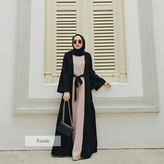 Moslem Fashion, Niqab Fashion, Modest Fashion Hijab, Modern Hijab Fashion, Hijab Fashion Inspiration, Fashion Outfits, Kebaya Modern Dress, Hijab Style Dress, Mode Abaya