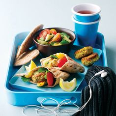Make this falafel recipe, served with salad and pitta bread, for an easy lunch on the go.