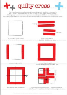 Cross block:My thought is to make the 4 different strips in similar, but scrappy fabrics.  Squares can be any size.