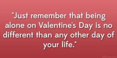 I am not celebrate valentine's day