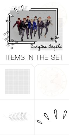 """""""🏹 Bangtan Angels 🏹"""" by sophie-totoro ❤ liked on Polyvore featuring art"""