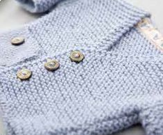 Free Knitting Pattern for a Baby Windsor Cardigan