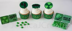 Hulk Cupcake Toppers Marvel Cupcake Toppers by JessicaJCreates