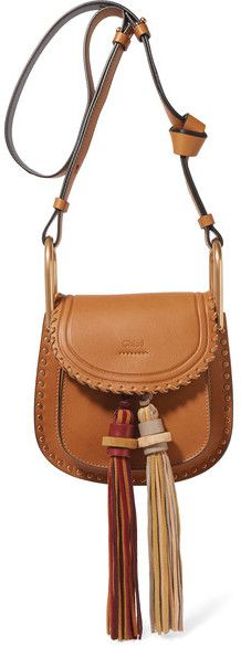 Chloé - Hudson Mini Whipstitched Leather Shoulder Bag - Brown