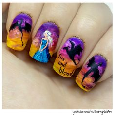 Daenerys Targaryen - Game of Thrones [Freehand Nail Art Tutorial]