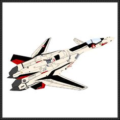 Macross Plus - YF-19/VF-19 Alpha One (Fighter Mode) Free Aircraft Paper Model Download - http://www.papercraftsquare.com/macross-plus-yf-19vf-19-alpha-one-fighter-mode-free-aircraft-paper-model-download.html
