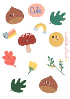 Printable Stickers, Cute Stickers, Planner Stickers, Plant Illustration, Cute Illustration, Kawaii Drawings, Cute Drawings, Note Doodles, Cactus Drawing