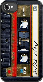 Maxell Gold Mix cassette tape iphone 4 4s, iPhone 3Gs, iPod Touch 4g case by Pointsale store