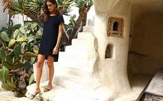 Silk Tee Dress, Black | Details | Cuyana