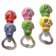 Sugar Skull Bottle Openers