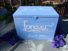 Rustic Wedding Card Box by willowroaddesigns on Etsy, $85.00