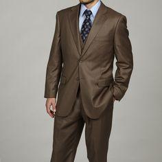 Belk Men's Suits in brown   Caravalli Men's 3-piece Vested Brown Suit