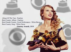 Grammys 2010, she won all the things she was nominated for, amazing
