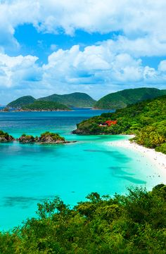 St. John's heart is Virgin Islands National Park, a treasure that takes up a full two-thirds of St. John's 20 square miles (53 square km).     #nationalparks #island #stjohnsisland #usvirginislands #water #travel #trip #beach