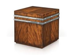 Shop for Theodore Alexander Cube and Rivets, 5005-656, and other Living Room Tables at McElherans Fine Furniture in Edmonton, AB. A Pacific walnut cube lamp table, with stainless steel collars with rivet decoration.