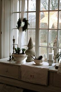 The Window Sill White Christmas All Things Crafts Decorations