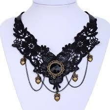 Afbeeldingsresultaat voor necklace embroidery blue beads