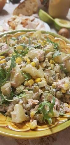 Potato Salad, Salads, Potatoes, Chicken, Meat, Ethnic Recipes, Food, Potato, Essen